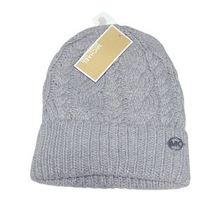 Michael Kors French Cable Knit Cuff Beanie
